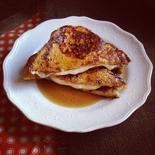 Pumpkin French Toast Stuffed with Orange Cream Cheese | Recipe
