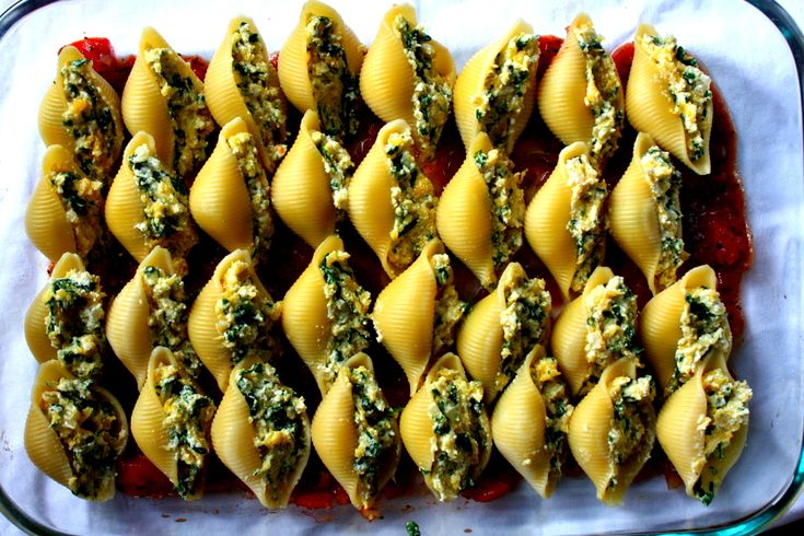 Butternut Squash and Spinach Stuffed Shells