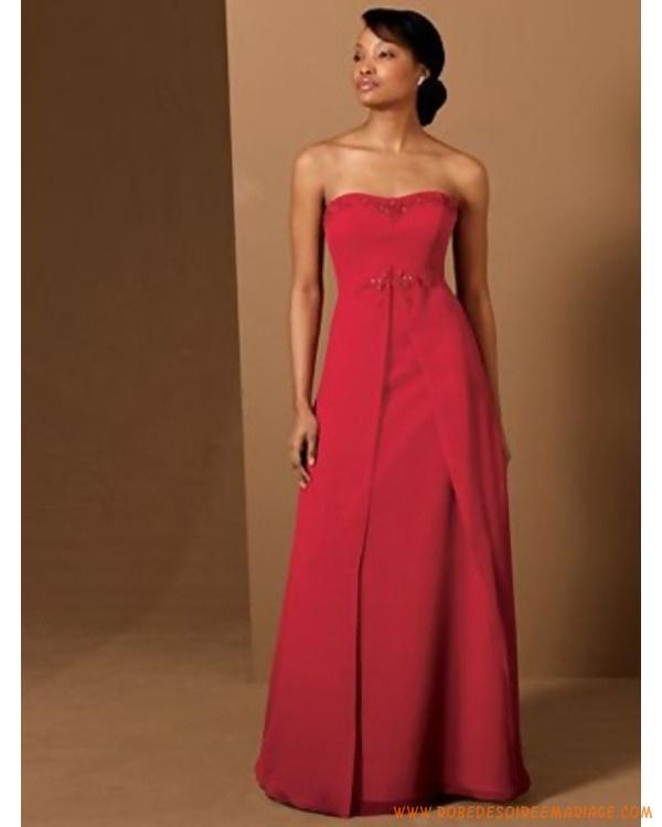 Robe de mariée Empire rouge  Robe de Mariée... ...  Pinterest