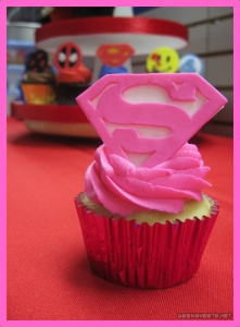super hero cupcake idea