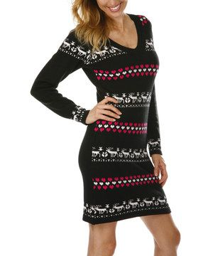 Inspired by a wintry wonderland, this sweater dress features