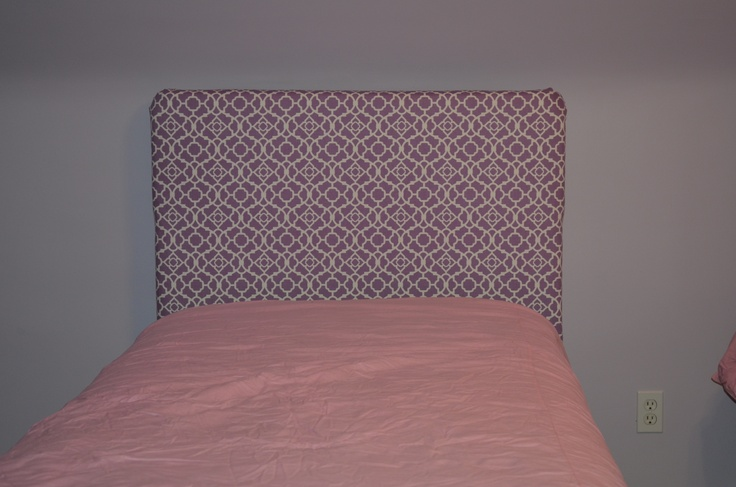 Fabric Covered Headboard  Sew what, Im still a rock star!  Pintere ...