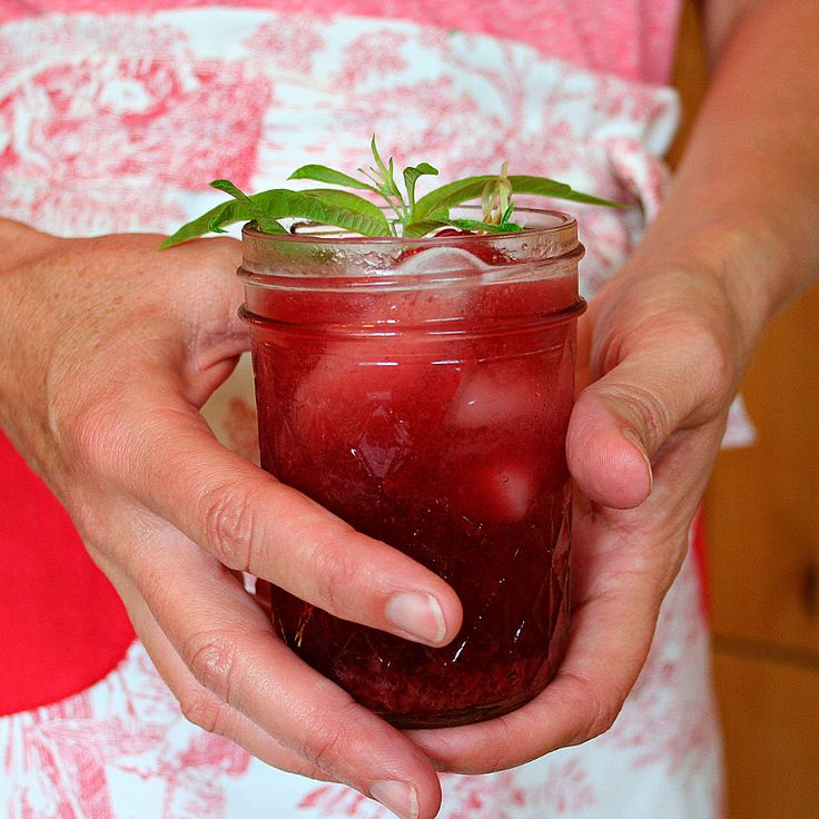 Lemon Verbena & Raspberry Jamtini | Recipe