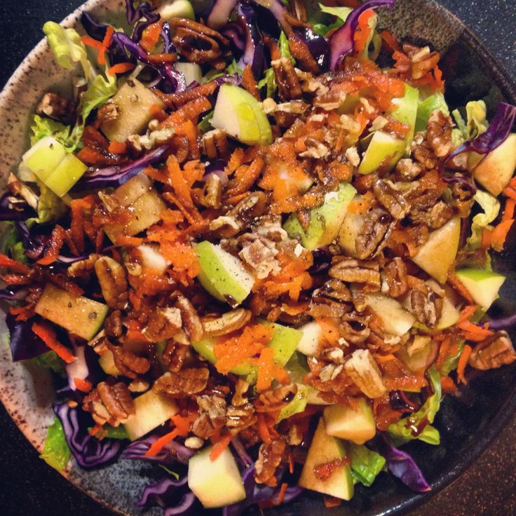 right Salad basmati rice with romaine, red cabbage, Granny Smith apple ...