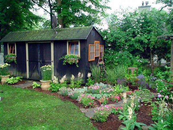 cute backyard shed my garden pinterest