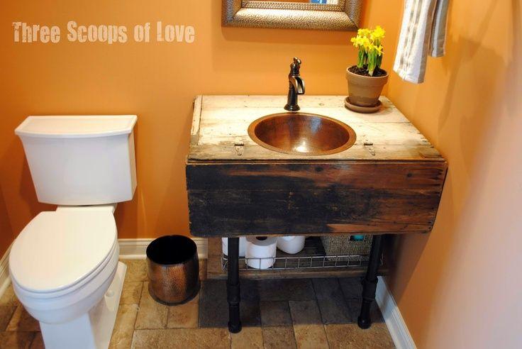Amazing DIY Rustic Bathroom Vanities DIY Bathroom Vanity How To DIY  TSC