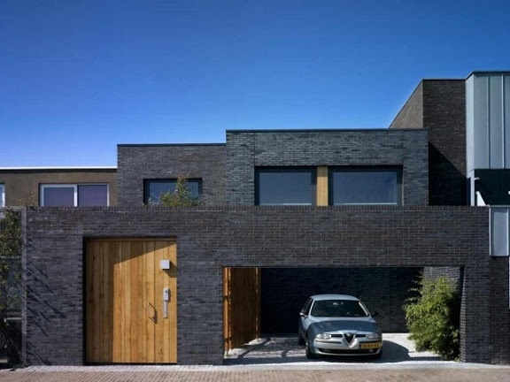Black brick modern exterior exteriors pinterest Black brick homes