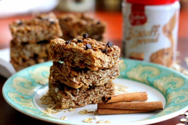 No Bake Biscoff Granola Bars | Healthy Treats | Pinterest
