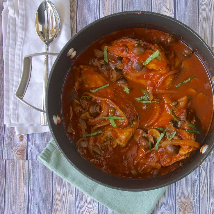 Slow cooked chicken cacciatore   DIY from Food Bloggers   Pinterest