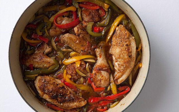 ... Alla Cacciatora con Peperoni (Hunter s-Style Chicken with Peppers