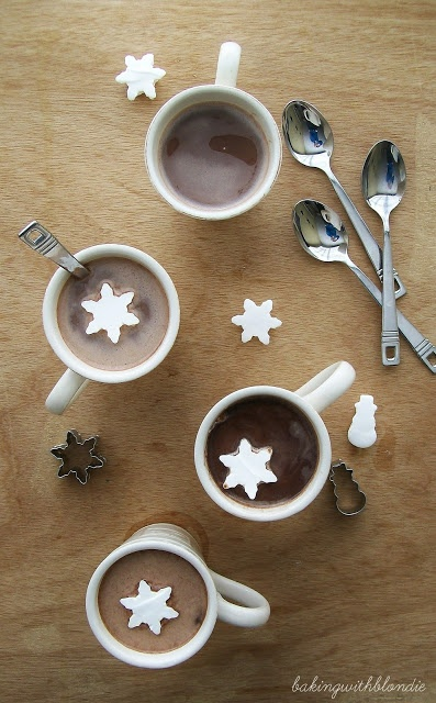 Baking with Blondie : Marshmallow Snowflakes