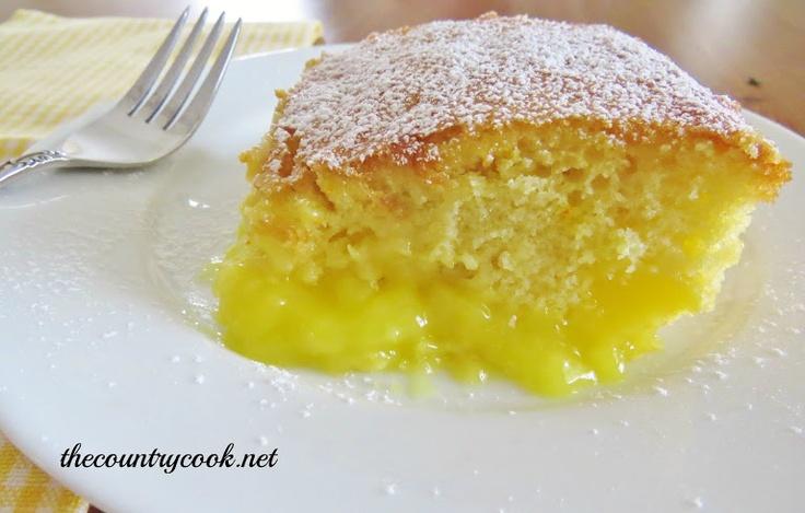 Warm Lemon Pudding Cake ; I plan to omit the optional sugar when ...