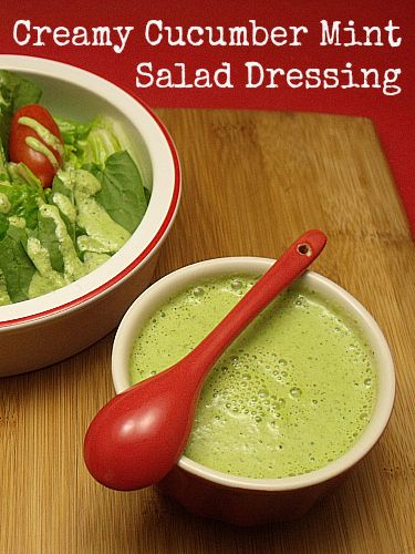 ... lime dressing refreshing cucumber salad with creamy mint dressing
