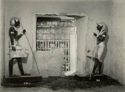 Guardians to the burial chamber of Tutankhamen