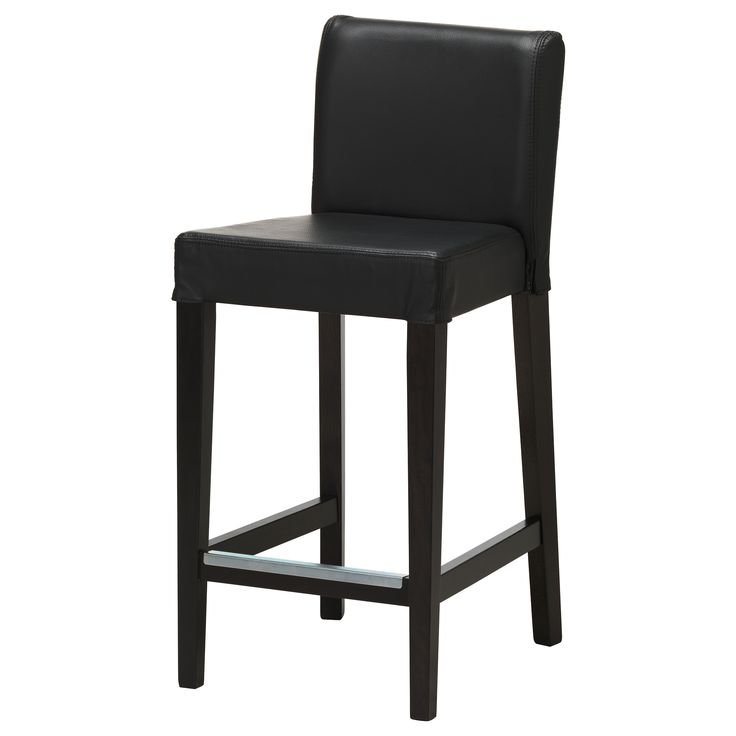 HENRIKSDAL Bar stool with backrest brown black Robust black : 348a94ea21c8f4961948436aeb585a10 from pinterest.com size 736 x 736 jpeg 22kB