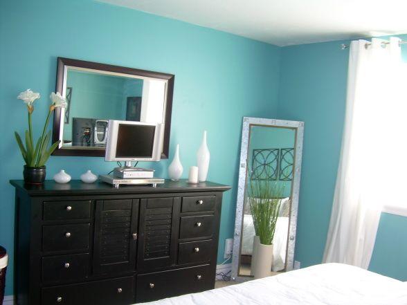 Aqua blue room cabin ideas cottage pinterest for Aqua blue bedroom ideas