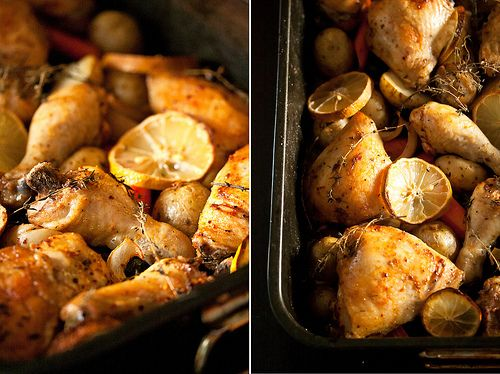 Spring Chicken: Spicy Roast Chicken with Carrots, Olives and Lemon ...