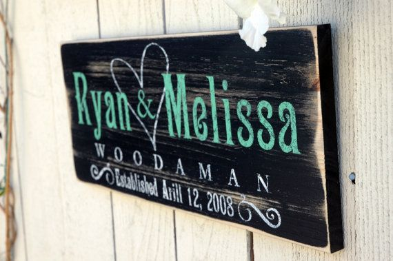 Last Name Home Decor Personalized Rustic Wood Signs