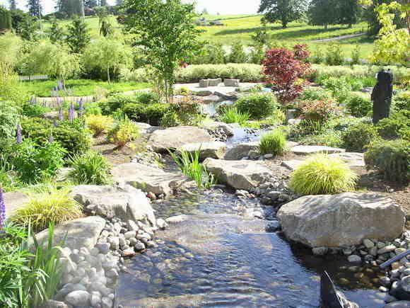 landscaping landscaping ideas backyard creek. Black Bedroom Furniture Sets. Home Design Ideas