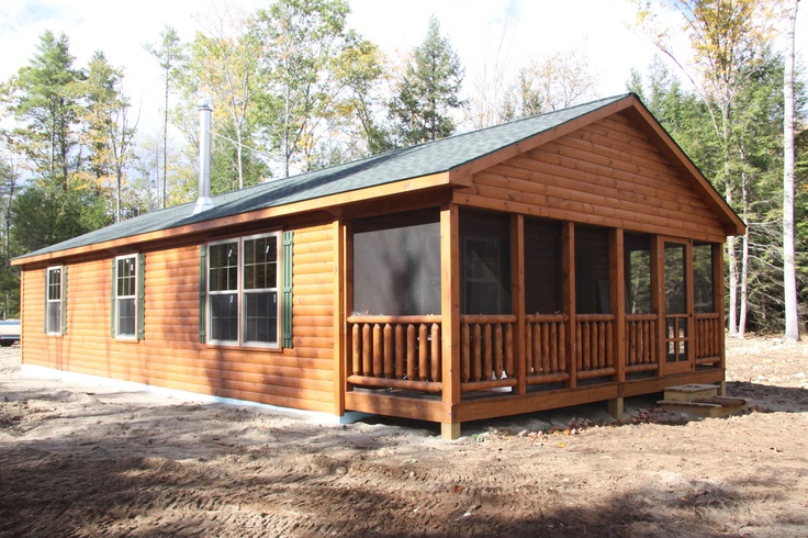Screened porch option log cabin pinterest for Log cabin screened in porch