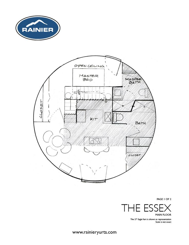 The Essex Yurt Floor Plan Home Pinterest