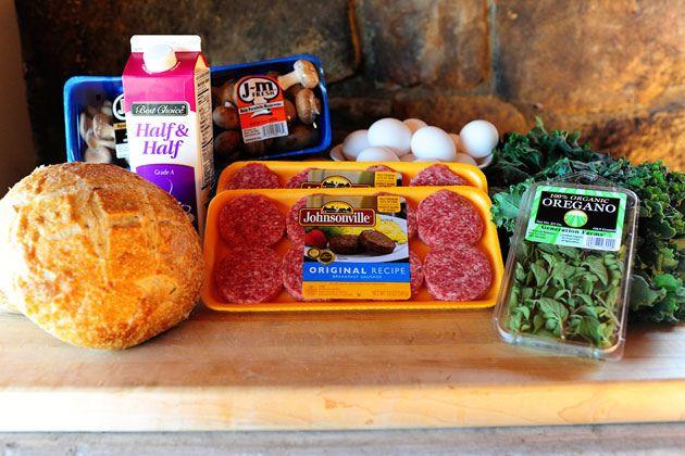 Sausage-Kale Strata | Recipe