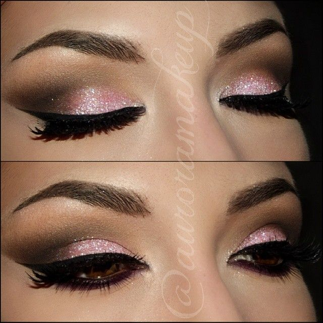 Baby pink glitter Face, Fingers, and Hair. Pinterest