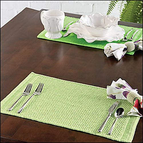 Spring Green Knitted Placemats | Craft Ideas | Pinterest