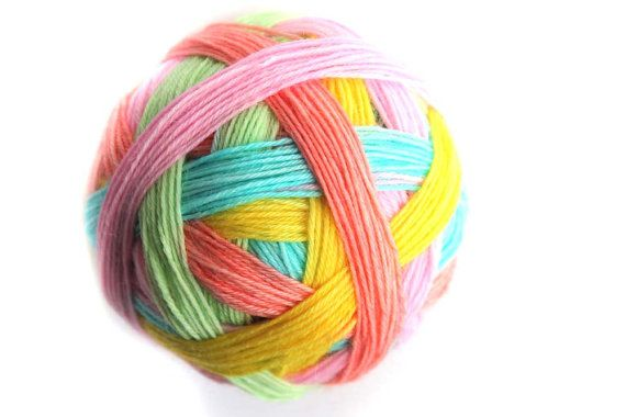 Tangy SelfStriping Sock Yarn in Sherbet Dip by TwistedLimoneDesigns - New 29.06.13