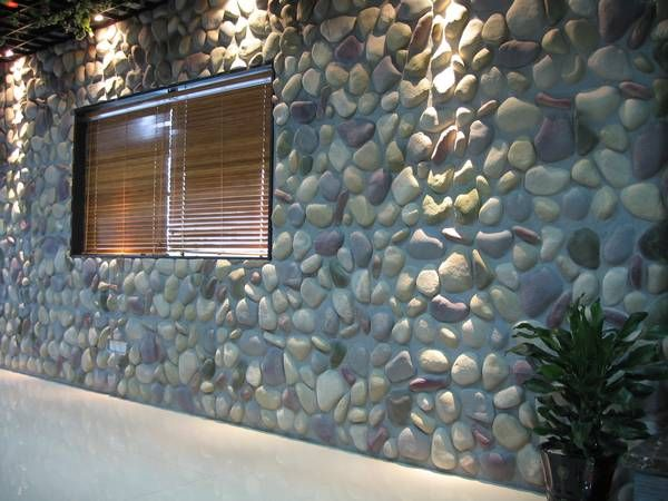 Large River Rock Wall Panels Exterior Looks Pinterest