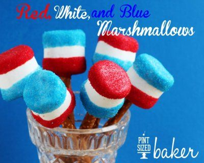 large red white and blue marshmellows