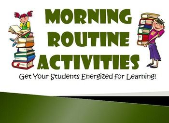 Morning Routine Activities For Upper Elementary Grades (3, 4, 5). Lots ...