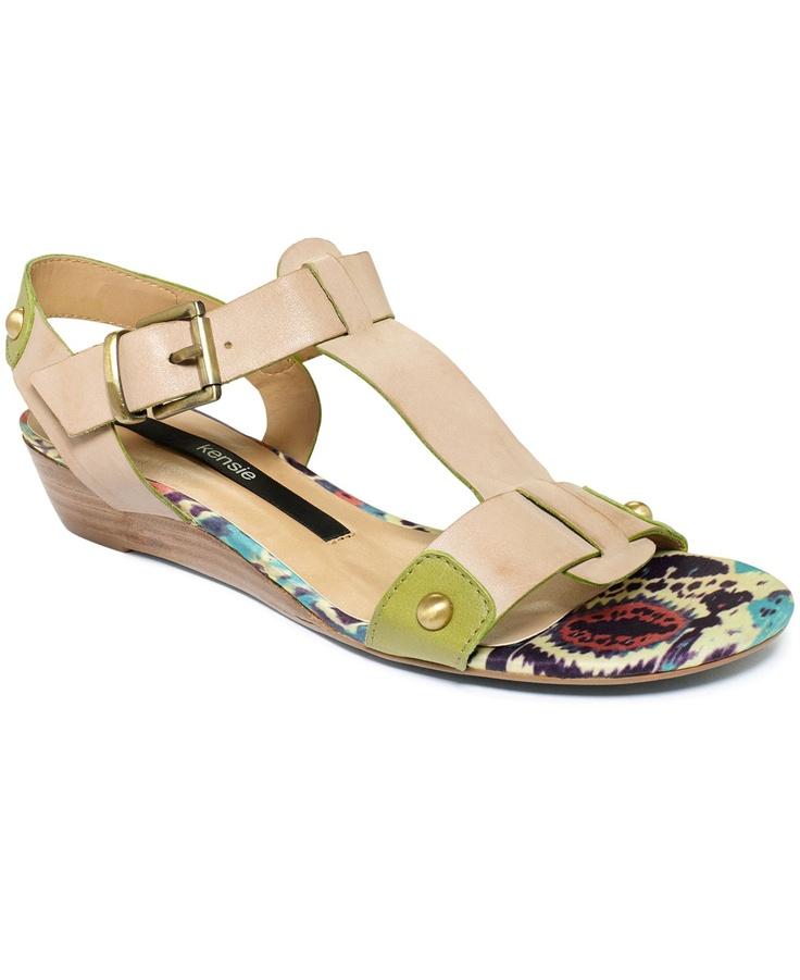 Kensie Shoes, Zappa Demi Wedge Sandals
