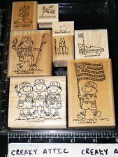 STAMPIN UP SCOUTS AT PLAY 8 RUBBER STAMPS BOY CAR