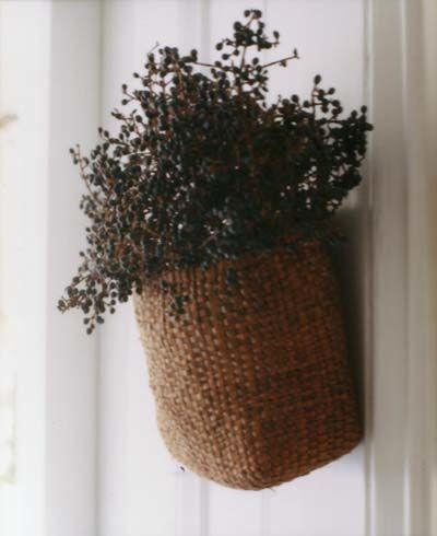 my front door...www.triciafoley.com privet berries in basket  photo by laura resen