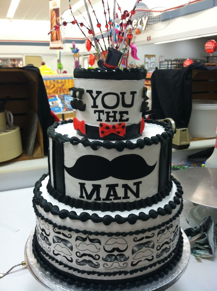 Cake Designs Manly : You the man birthday cake Cakes Pinterest