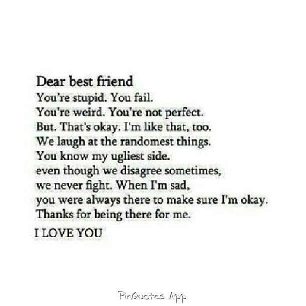 love ya bff quotes pinterest