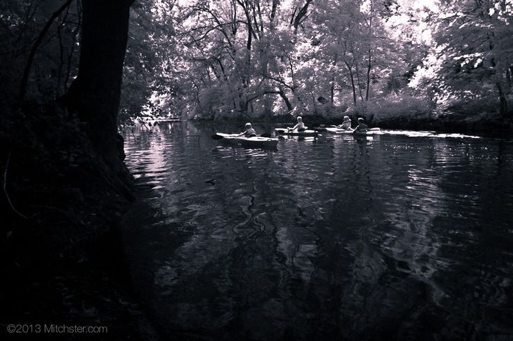 Kayakers in the Channel