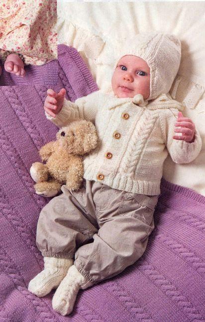 Вязание спицами для малышки до года 99