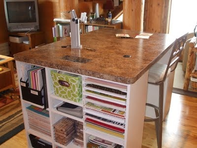 Craft table scrapbook pinterest