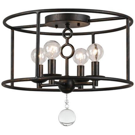 Crystorama Cameron Five Wide Bronze Ceiling Light Living Rooms Eight And Family Rooms