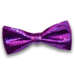 Purple Metallic Bow Ties