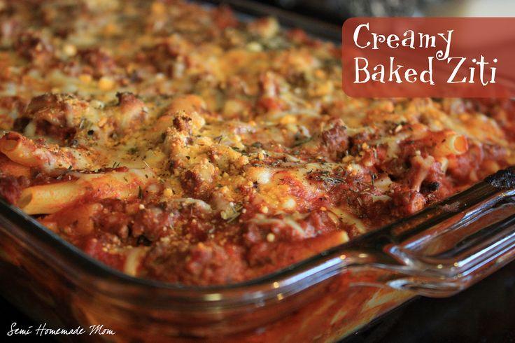 Semi Homemade Mom: Creamy Baked Ziti