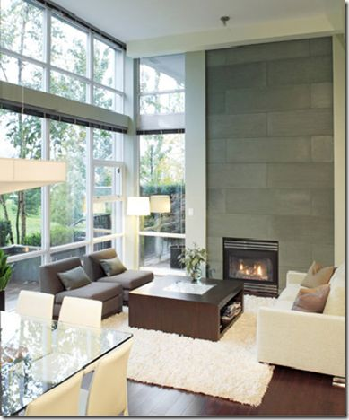 Floor To Ceiling Tile Fireplace Home Decor Pinterest
