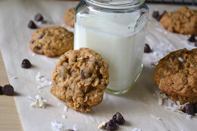 Coconut & Chocolate Chip Cookies | My Recipes | Pinterest
