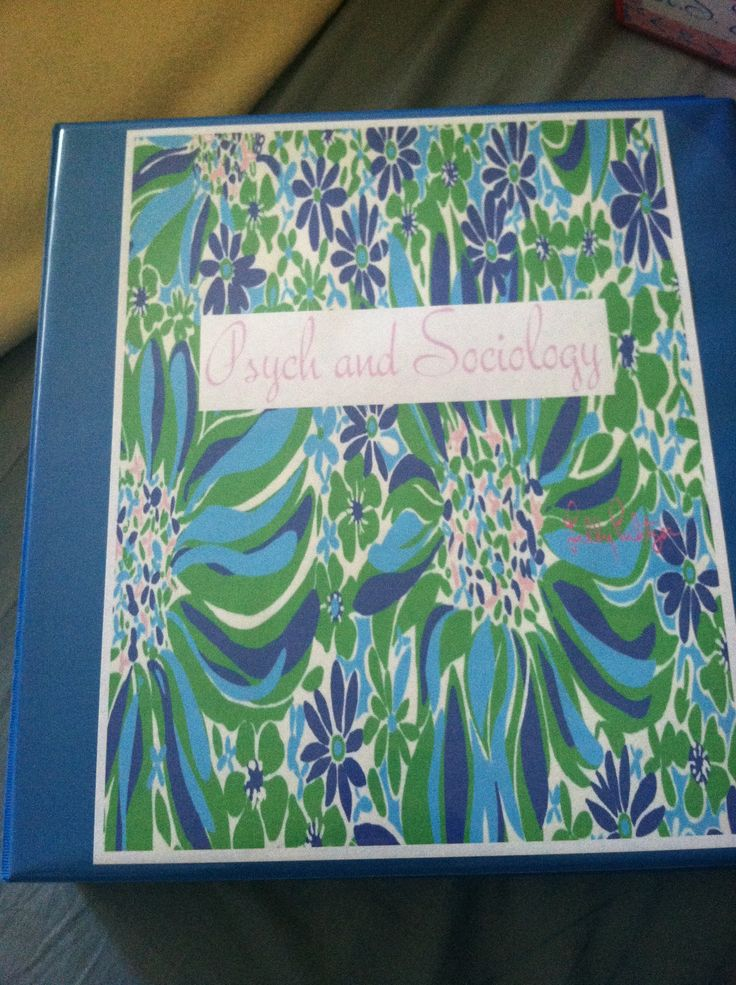 Lilly pulitzer diy binder cover