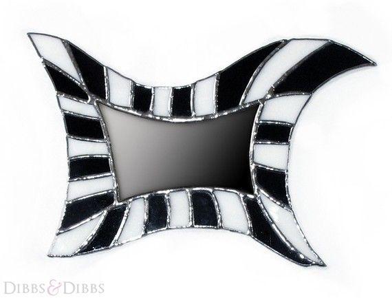 Stained Glass Mirror Black Tim Burton by DIBBSandDIBBS