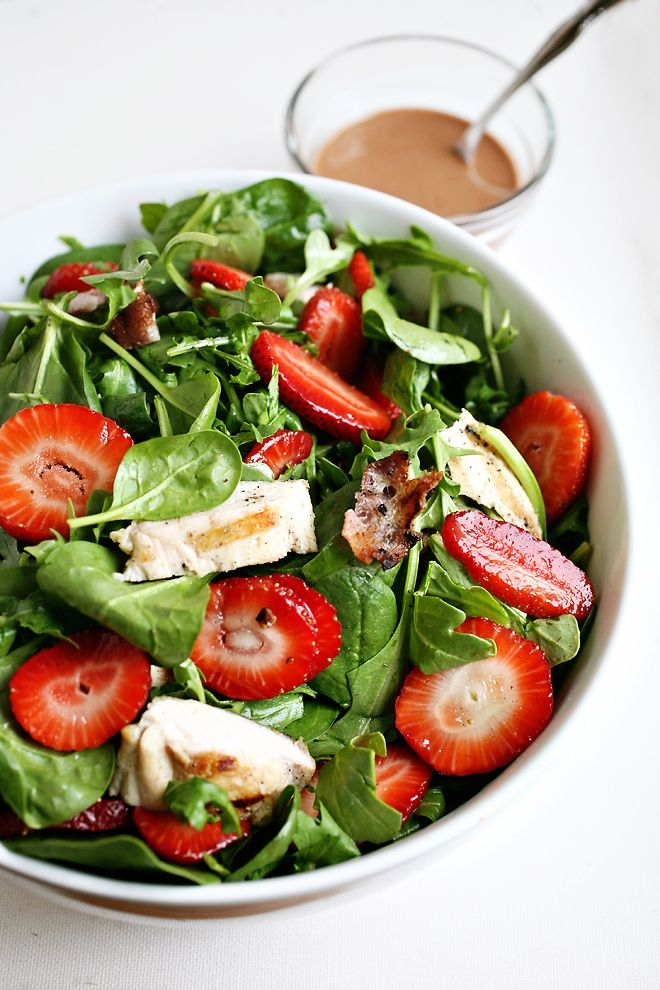 Strawberry and Grilled Chicken Salad | Recipes to try | Pinterest