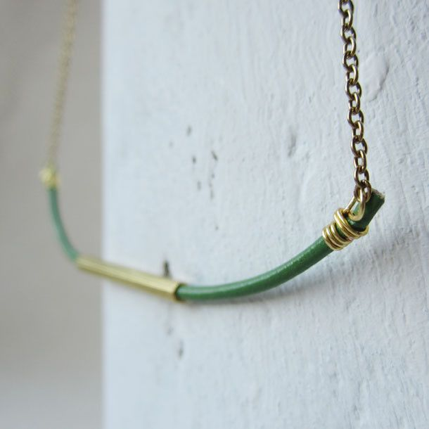 emerald hexi necklace