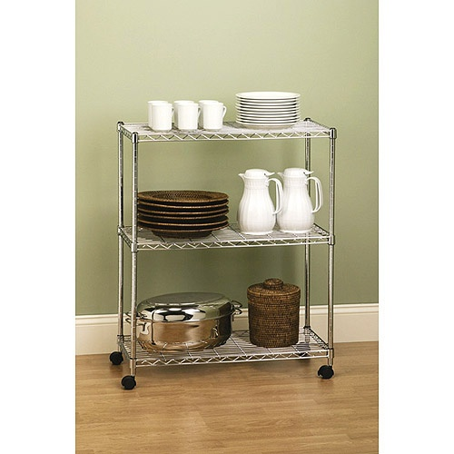 seville classics 3 shelf home style steel wire shelving